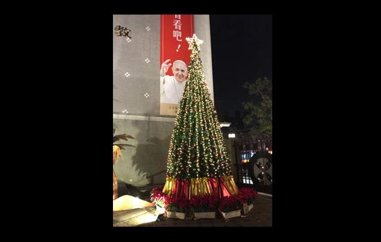 台北古亭耶穌聖心堂聖誕佈置